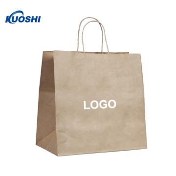 Wholesale eco-friendly custom bown kraft paper bag