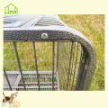 Heavy duty steel pet dog kennel cage