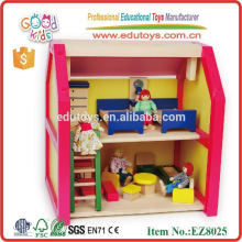 wooden Toy House & baby girl toy