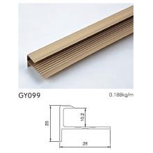 Anodised Gold Aluminium Tile Trim
