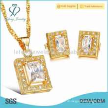 Venda Por Atacado Stud cristal jóias brincos conjunto, jóias de ouro 18k conjunto jóias