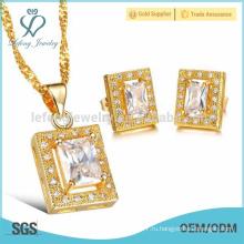 Оптовые ювелирные изделия серьги стержня кристалла стержня установленные, ювелирные изделия ювелирных изделий золота 18k установленные