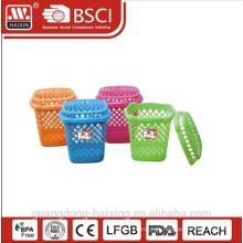 Hot venda e cesto de roupa plástico novo (32L) / cesto de roupa suja com tampa