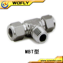 male female welded ferrule metal steel compression pipe fittings tee for gas