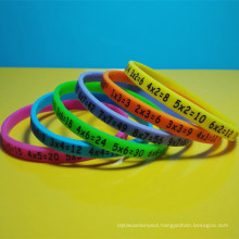 Thin silicon wrist bands, 6mm silicone bracelets, customized silicon wristbands