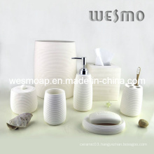 White Polyresin Bathroom Accessories Set (WBP0242A)