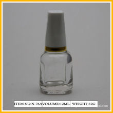 12ml / 13ml Beautiful Shape Nail Polish Containers , White Cap For Girls