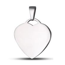 Coeur Tag Tag personnalisé Collier pendentif coeur