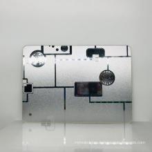Hoja de espejo de acrílico de lujo de 0.8-6 mm Hoja de espejo de plástico