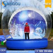 Фабрика оптовый прочный гигантский фото человека надувной рождественский снег глобус