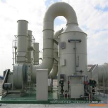 Torre de absorção da torre SO2 do purificador da absorção do FUMO do ácido FRP da fibra de vidro FRP
