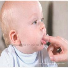 Brosse à doigts pour bébé en silicone écologique de 2015