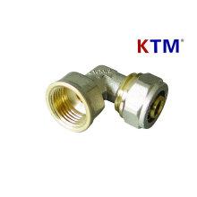 Messing-Rohrverschraubung - Female Elbow für Kunststoff, Pex-Al-Pex Rohrverbinder