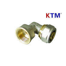 Brass Pipe Fitting - Female Elbow for plastic, Pex-Al-Pex Pipe Connector
