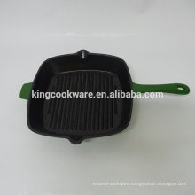 Cast Iron Healthy Enamelled Grill Pan