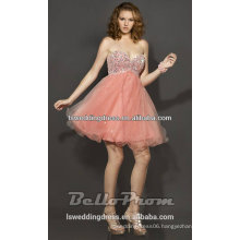HC2093 Very perfect sparkly deep sweetheart neck with sleeveless layers tulle short orange cheap sequin prom dresses