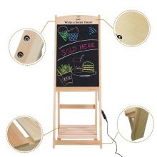 Madera un marco LED DIY pizarra Chlakboard signo
