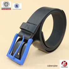 Черный моды пластиковые пряжки кожаный пояс