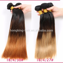 wholesale best quality factory price sew in human hair weave ombre hair extension