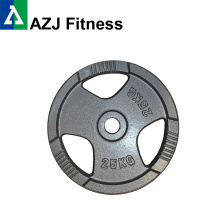25KG Tri-Grip Cast Iron Olympic Weight Plate