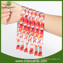 Aluminum tube festival items concert custom cloth wristbands