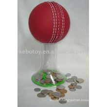 Tirelire --- balle de cricket