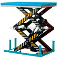 Small electric stationary scissor stage lift