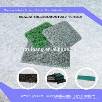 Esponja de filtro de carbón activado Photocatalyst de Honeycomb