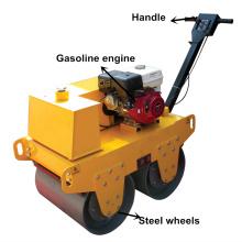 Compactador de rodillos compactador de camino pequeño detrás de una rueda