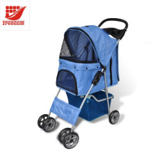 4 Rodas Oxford Dobrável Pet Dog Cat Strollers
