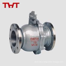 DN150 PN16 WCB flanged starter ball valve
