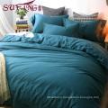 top 5 luxury 5 star hotel High Quality Hotel Bedding Linen Supplier 60s100% Cotton Plain cyan blu Bedding Sets