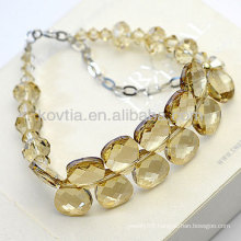 Luxurious austrian crystal bracelets natural yellow crystal bracelets