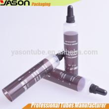 Emballage cosmétique tube à buse à contenants en plastique