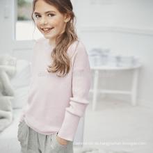 2017 Frühling seide kaschmir neue design mädchen pullover strickwaren