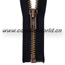 No 5 Black Brass Zipper O / E a / L