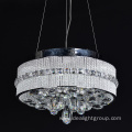 round led hanging chandelier with crystal ball