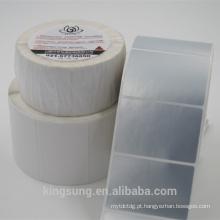 etiqueta gravável imprimível branca vazia da etiqueta com preço de fábrica