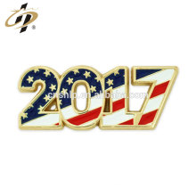Bulk items 2017 metal gold cloisonne custom text lapel Pin