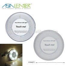 Round Shape Dimming Function Super Bright 6SMD Touch Light