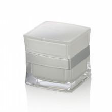 5/15/20/30/50 ml blanc en plastique de luxe visage pots de crème de beauté soins de la peau pots de crème avec bouchon à vis blanc vente chaude