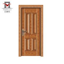 Nouveau modèle accepté de conception de porte en bois en acier d'origine