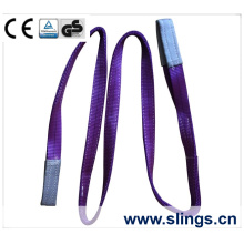 1 t * 1 m 100% Polyester Gurtband Sling mit Doppel Auge