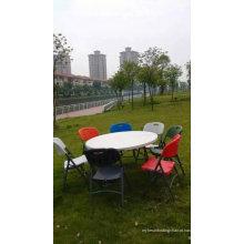 Mesa e cadeira de banquete dobrável em HDPE