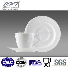 Porcelana fina de porcelana de porcelana, copos de café e pires