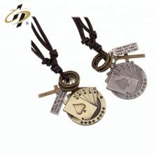 Pendentif Poker personnalisé or antique promotionnel avec collier