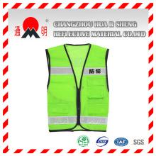 Verde alto ante tráfico seguridad chaleco (chaleco-6)