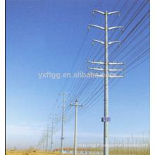 10kv60kv HDG Transmission d'énergie électrique Pôle d'acier