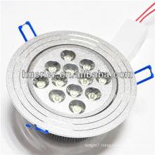 shenzhen led lighting manufacturer 100-240v 220v 12w recessed downlight with CE&RoHS