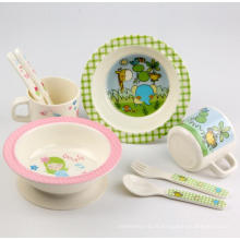 (BC-MK1004) Fashinable Design réutilisable Melamine 4PCS Kids Cute Dinner Set